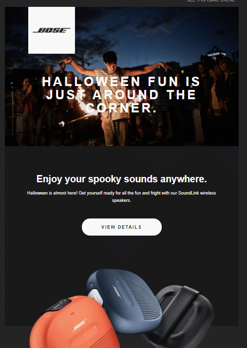 Bose Halloween Email